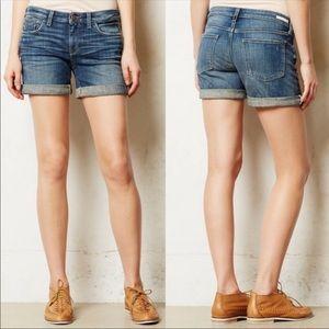 Anthropologie Pilcro Stet Roll-Up Jean Shorts